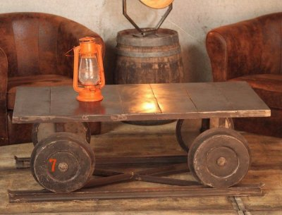 Table basse industrielle wagon