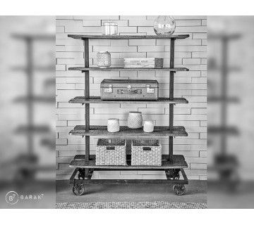 Etagère industrielle bois et métal