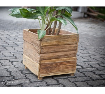Bac à fleurs «Botany» Urban Jungle en teck recyclé