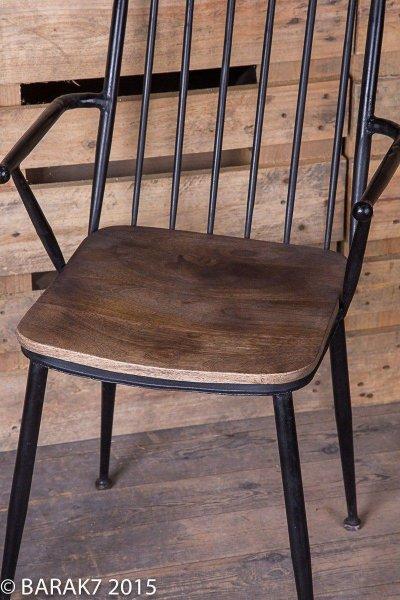 chaise industrielle bois metal. Black Bedroom Furniture Sets. Home Design Ideas