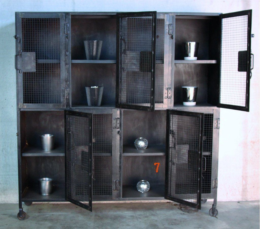 Industrial furniture industrial metal dresser barak 39 7 for Miroir industriel metal