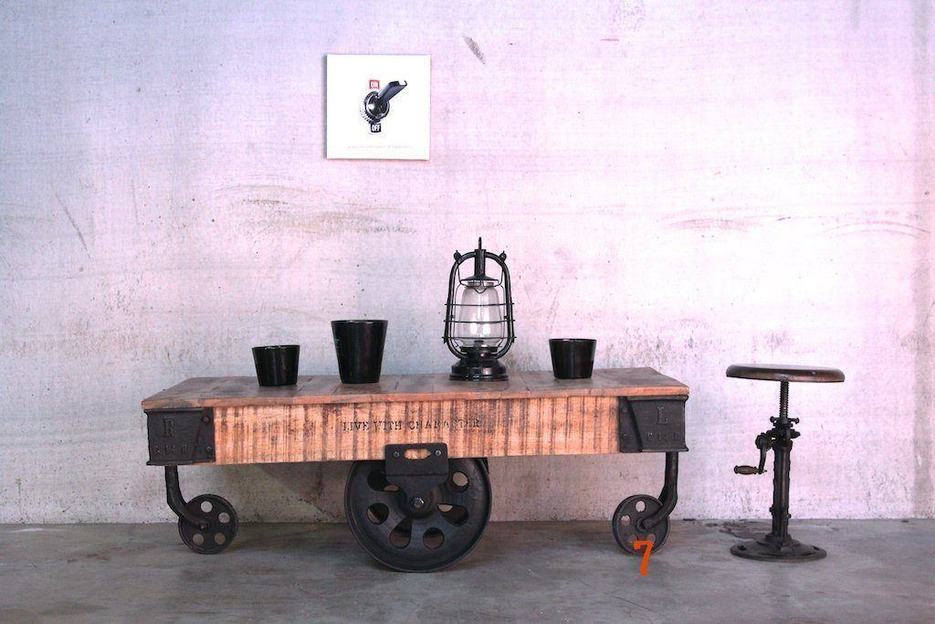 Industrial coffee table black colored