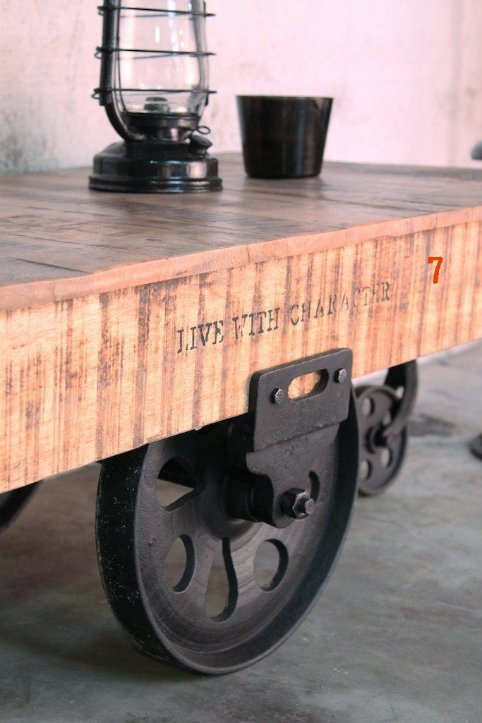 Industrial furniture industrial coffee table black - Table basse original ...