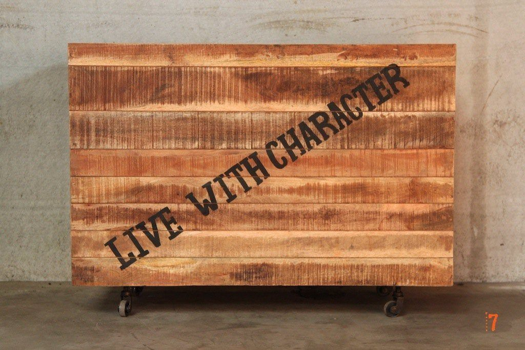 Industrial wood chest