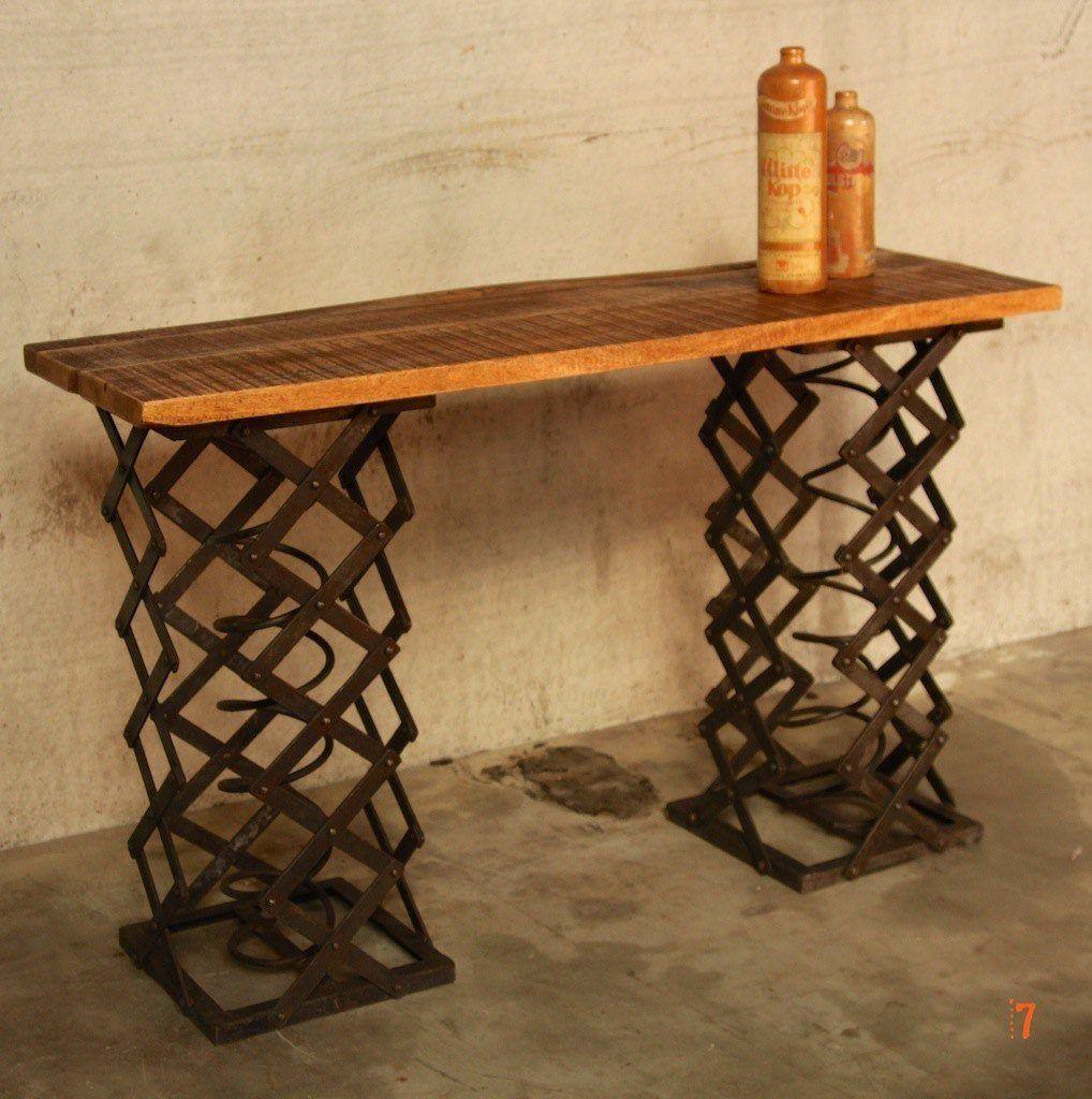 console industrielle meuble industriel ressort usine. Black Bedroom Furniture Sets. Home Design Ideas