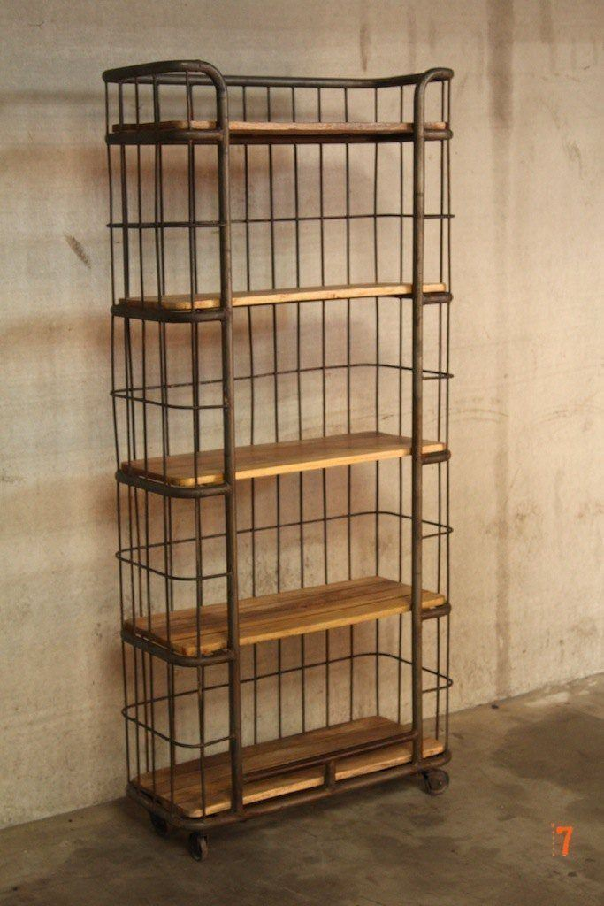 Industrial furniture industrial shelving unit barak 39 7 - Etagere murale style industriel ...