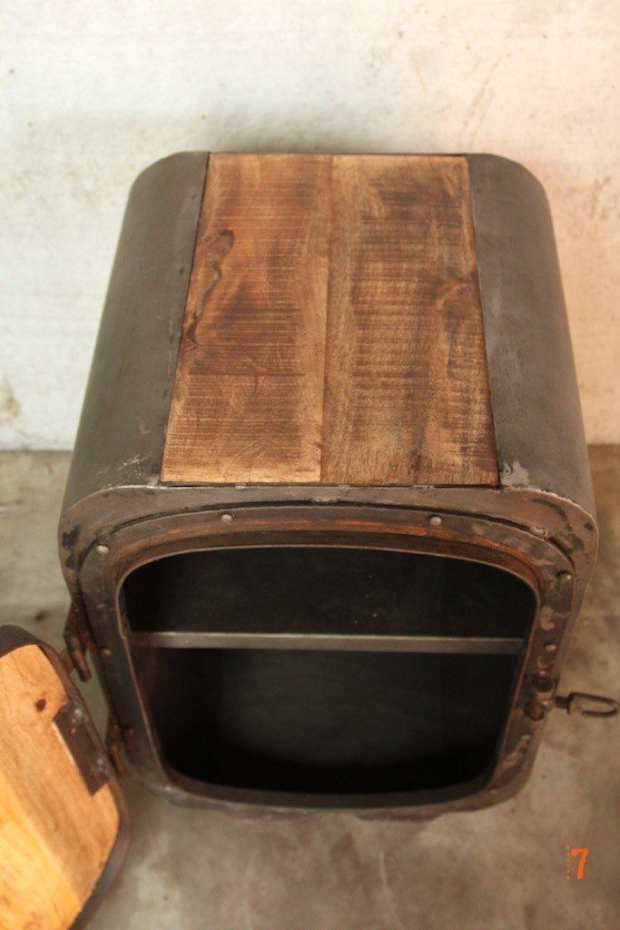 Boat industrial bedside table