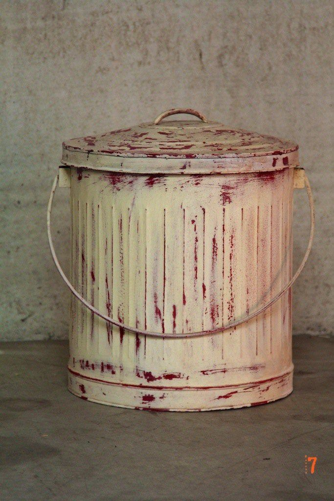 Industrial style rubbish bin