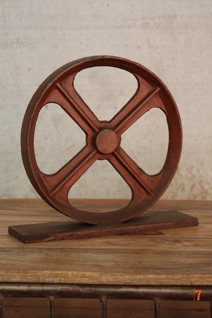 Decorative industrial wheel
