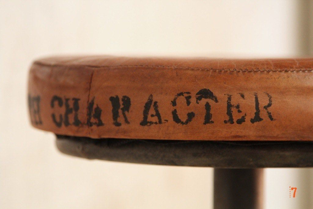 industrial furniture - pedal industrial bar stool | barak'7 - Chaises De Bar Fly