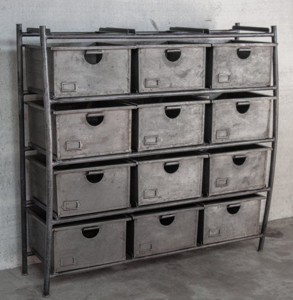 Industrial shelving unit with large racks