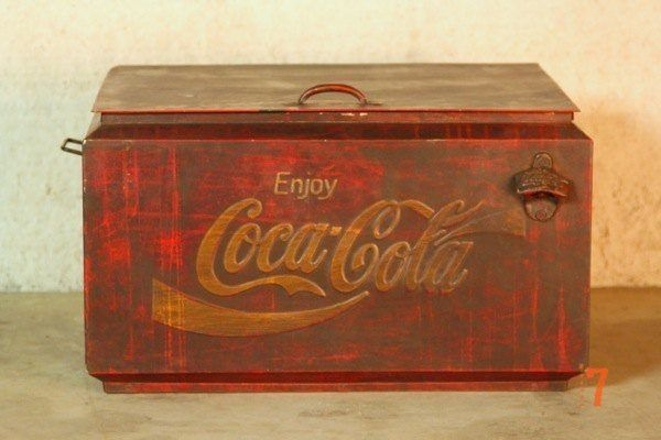 Original Coca Cola cooler storage box