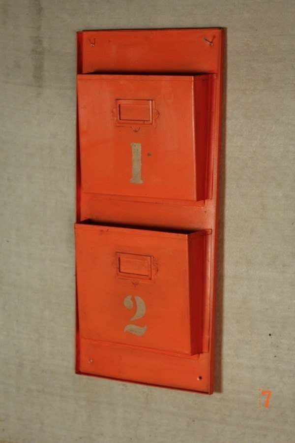 industrial furniture orange industrial magazine rack. Black Bedroom Furniture Sets. Home Design Ideas