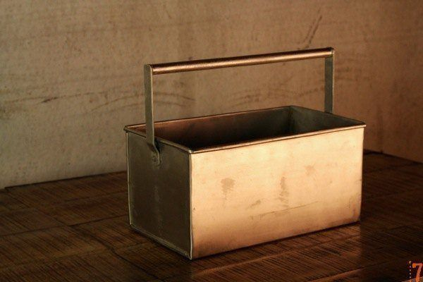Industrial metal container with smooth handle
