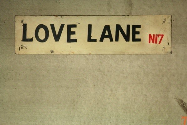 "Metal road sign ""Love Lane"""