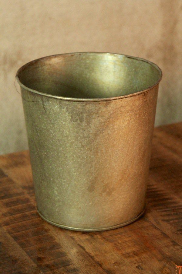 Industrial metal plant pot
