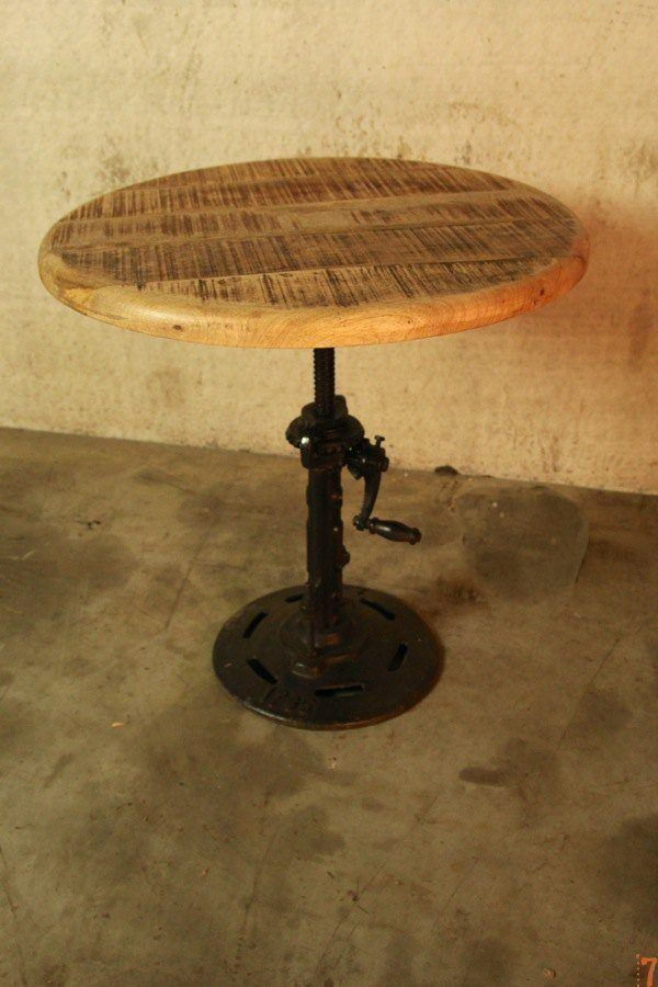 Adjustable industrial side table