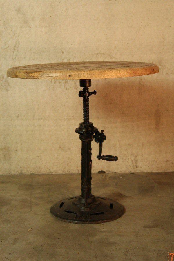 Adjustable industrial side table