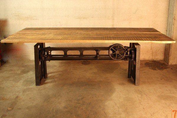 Adjustable industrial table