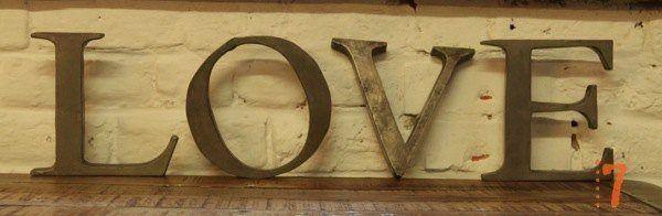 """Industrial metal letters """"LOVE"""""""