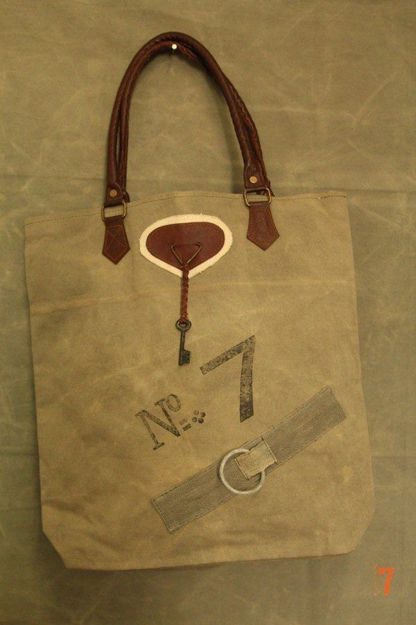 Recycled canvas bag #7