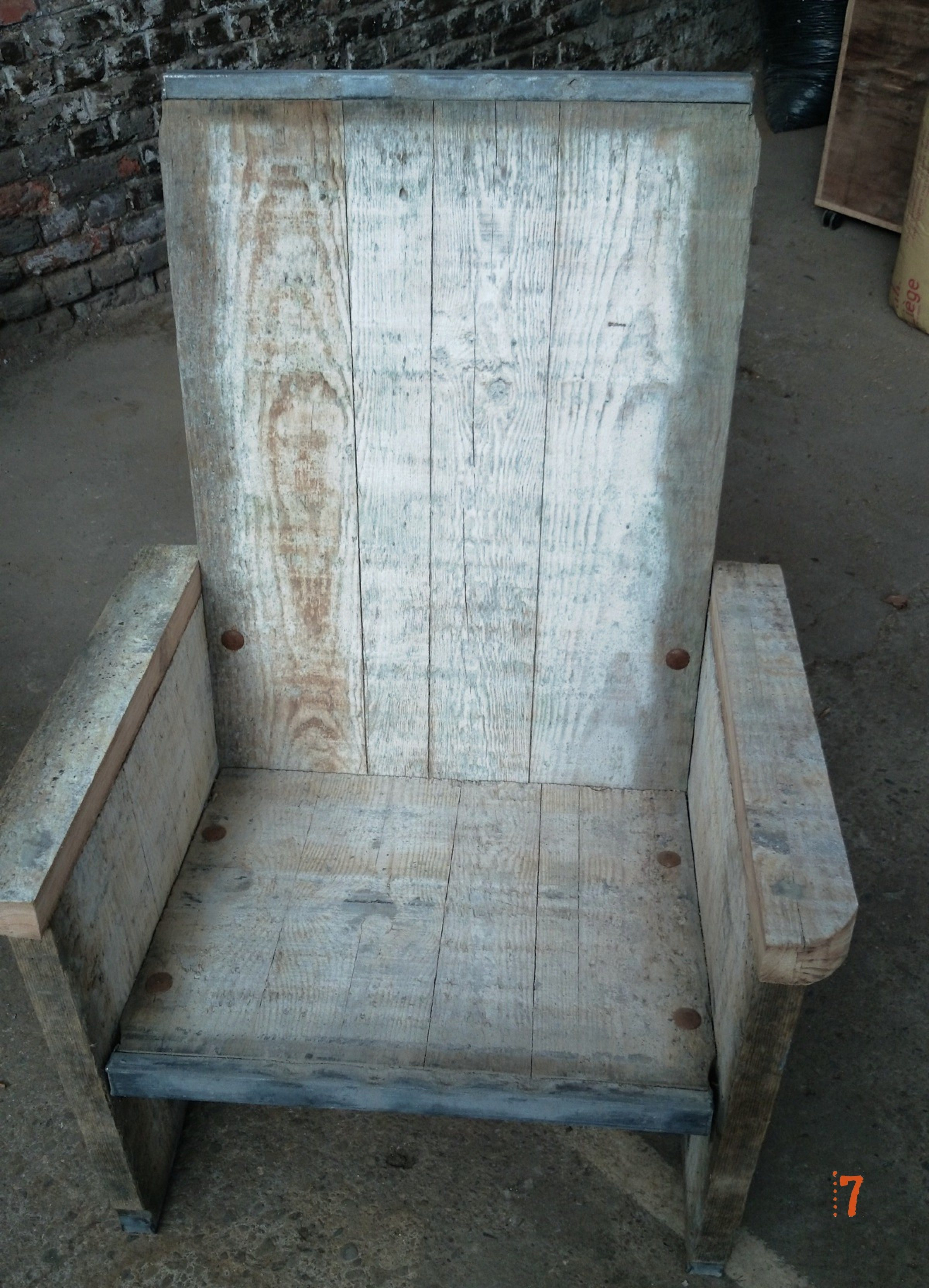 Solid wood garden chair