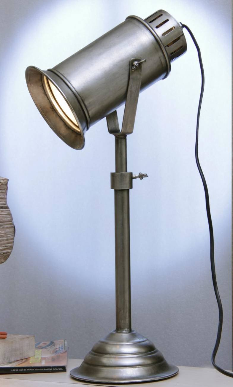 Adjustable industrial table lamp
