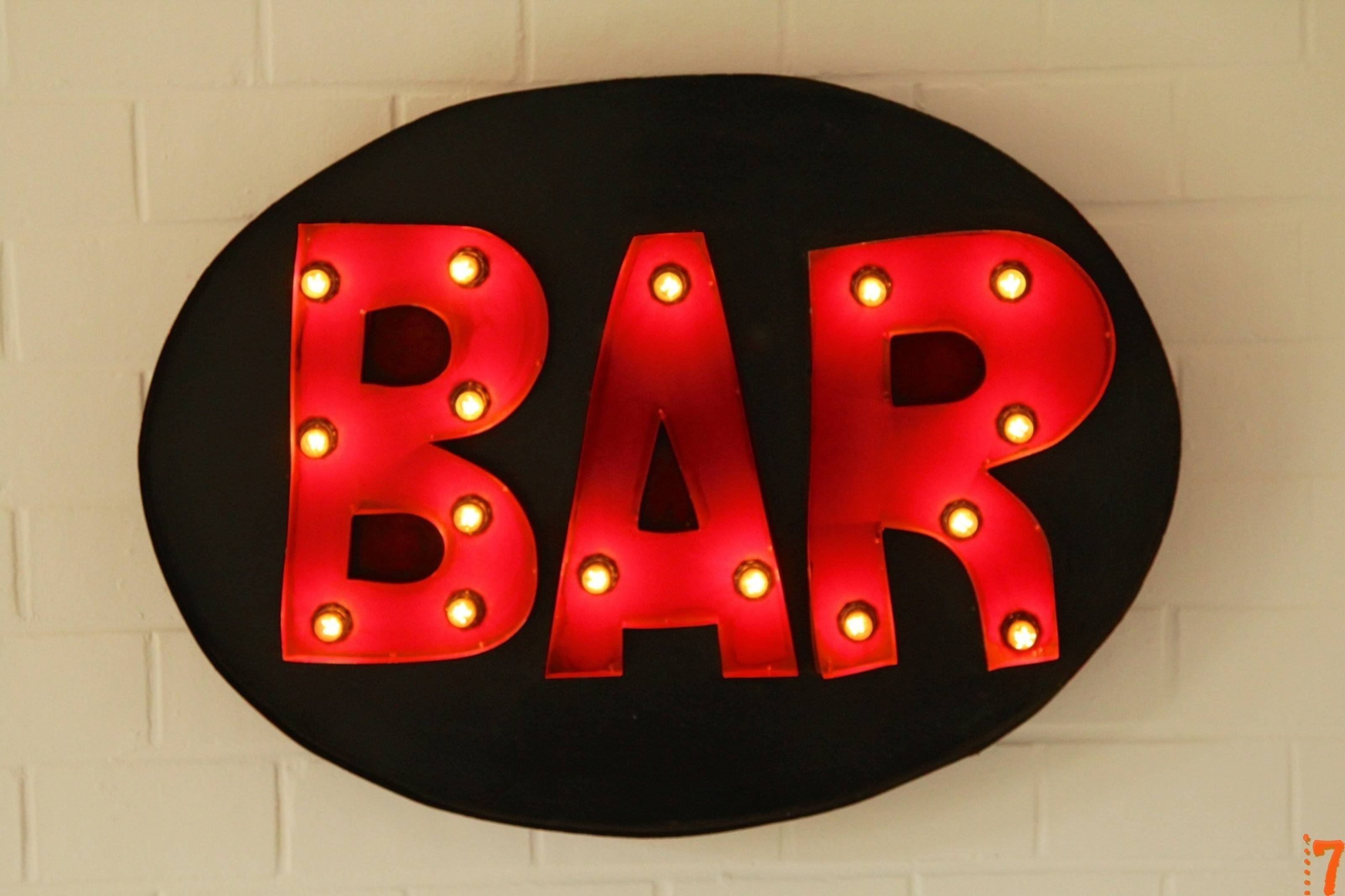Industrial illuminated bar sign