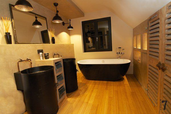 Meuble vasque style industriel for Salle de bain style urbain