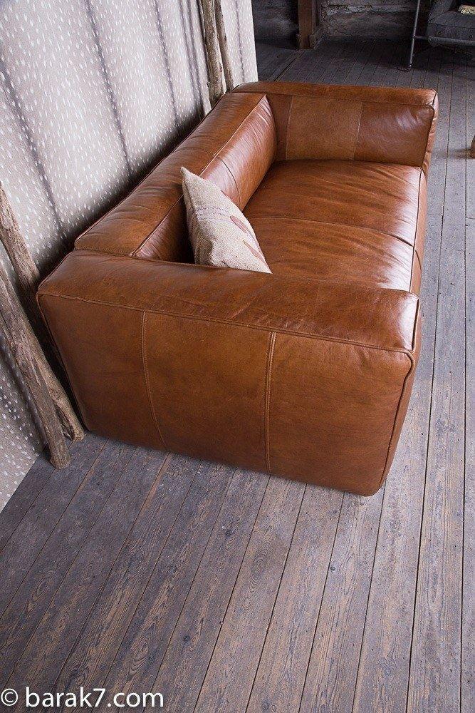 industrial furniture lounge couch cognac barak 39 7. Black Bedroom Furniture Sets. Home Design Ideas