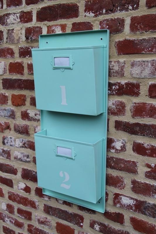 Porte revues industriel couleur menthe - Fabriquer un porte revue ...