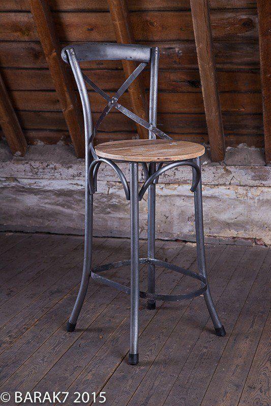 Chaise haute bistrot bois metal de b a r a k 39 7 tous nos for Chaise bistrot en bois