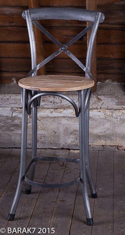 Chaise haute bistrot bois metal de BARAK7, Tous nos  ~ Bistrot Du Pont De Bois