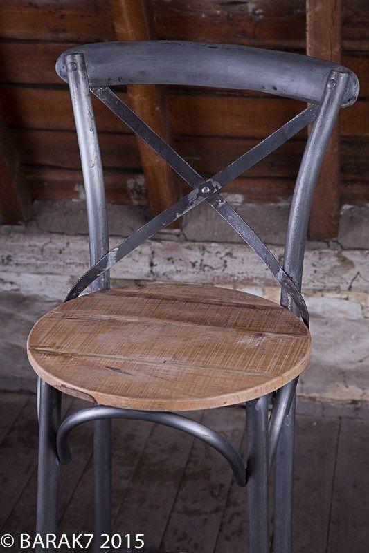 Chaise haute bistrot bois metal de b a r a k 39 7 tous nos for Chaise bistrot bois metal