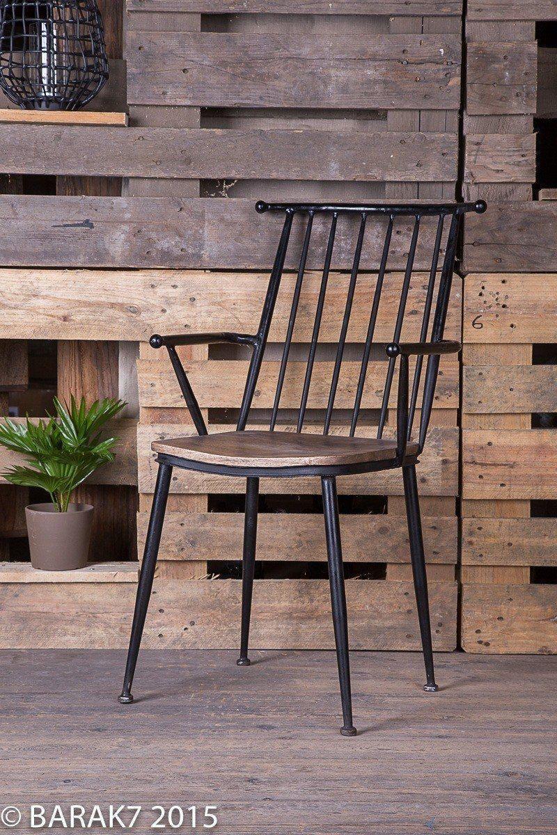 Chaise industrielle bois et métal