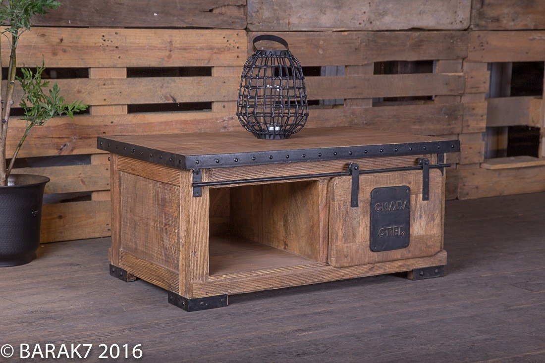 Industrial furniture coffee table live with character - Table basse original ...