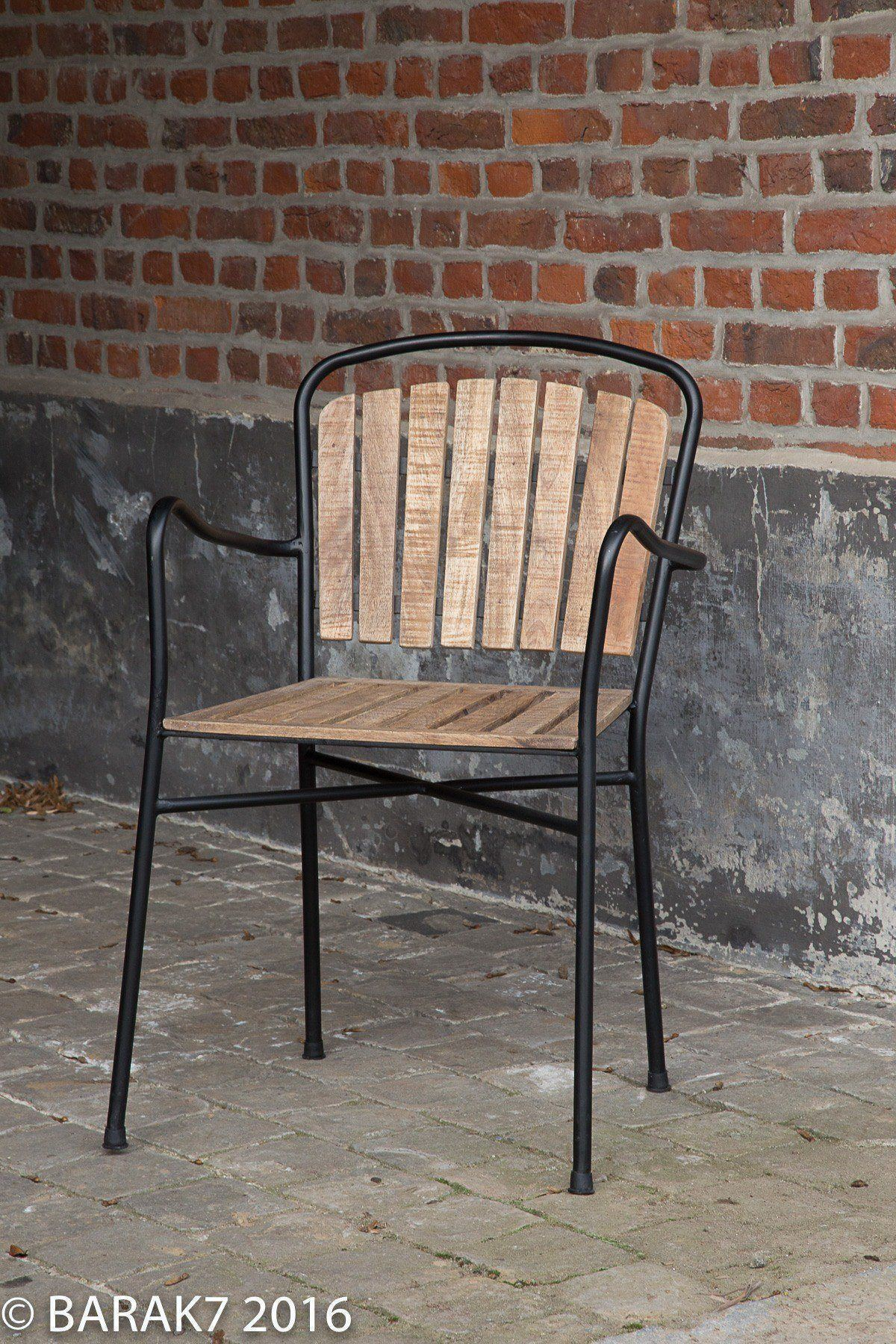 Chaise industrielle bois et m tal oxford for Chaise de bistrot en bois