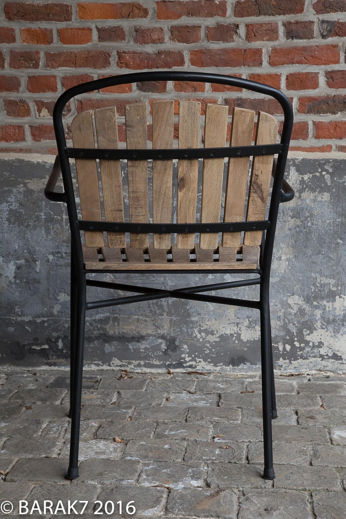 Chaise industrielle bois et métal Bistrot Oxford