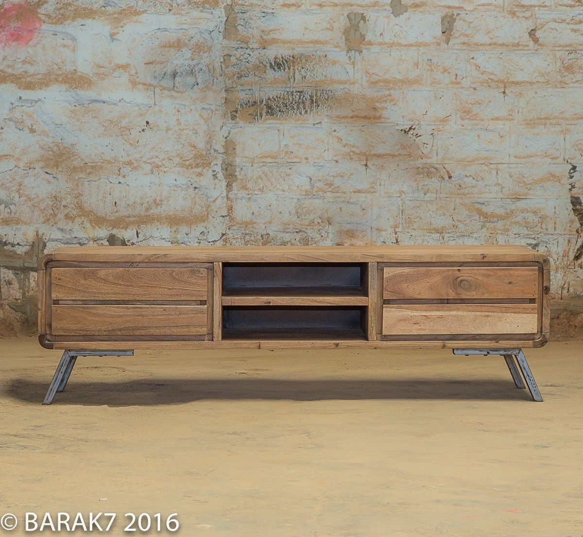 Industrial furniture scandinavian wooden tv cabinet scandus with industrial - Meuble tv vintage scandinave ...