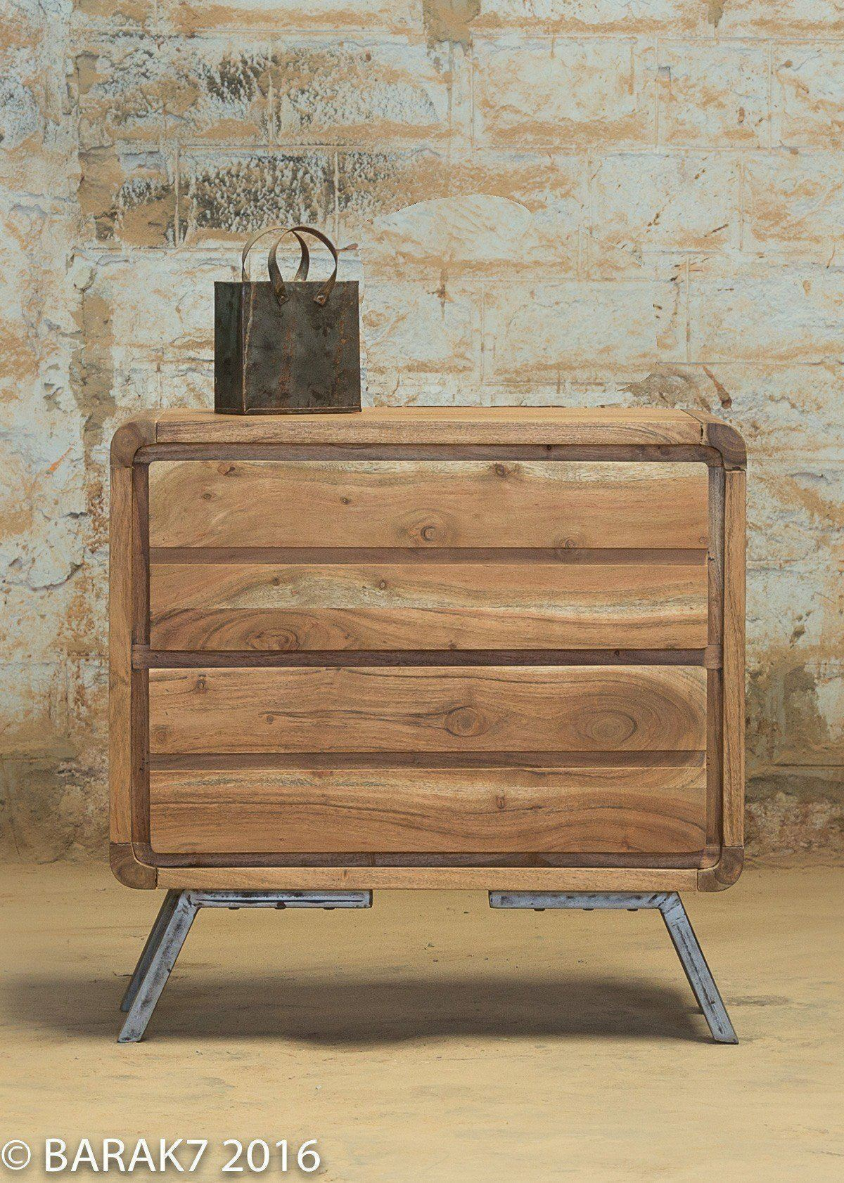 Commode scandinave bois massif 1