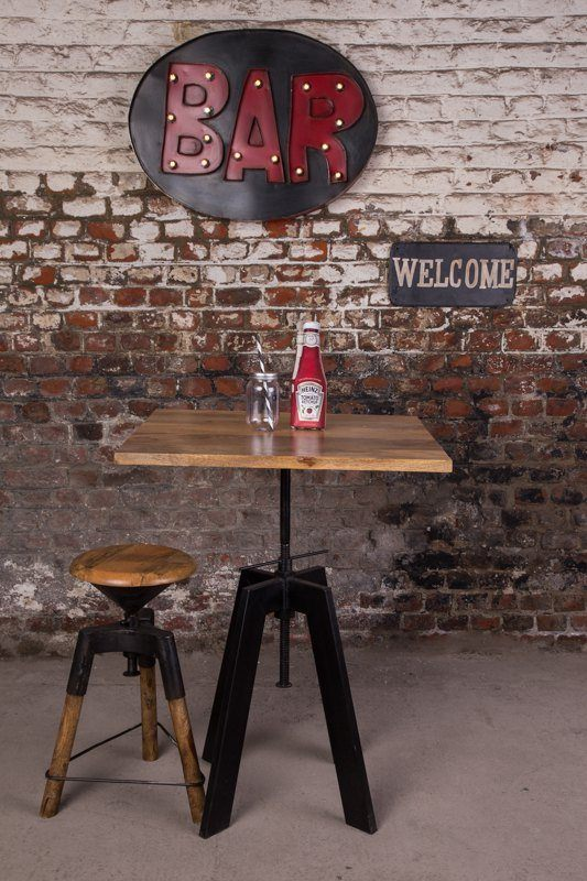 Industrial furniture uk industrial tables barak 39 7 - Table bar industriel ...