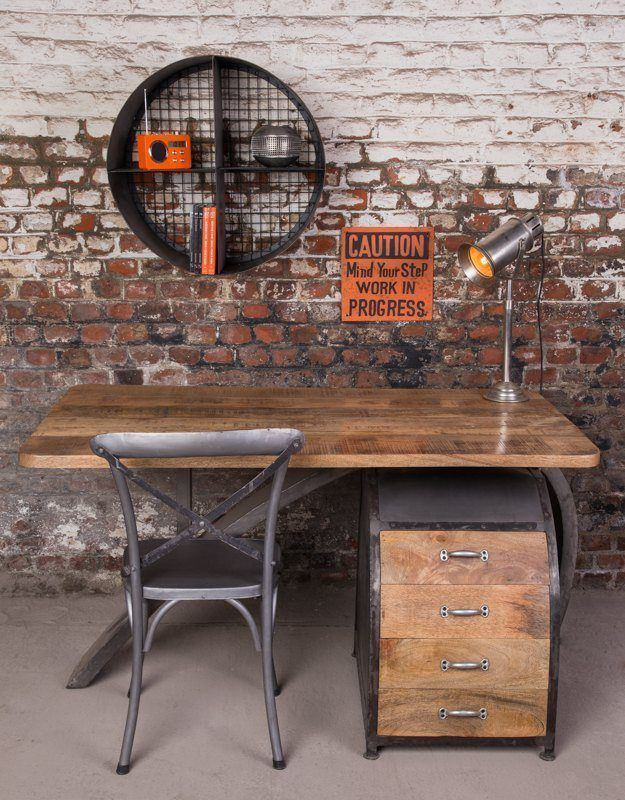 Industrial furniture uk office furniture barak 39 7 - Fabriquer un bureau en bois ...