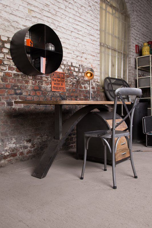 scandinavian inspired industrial desk