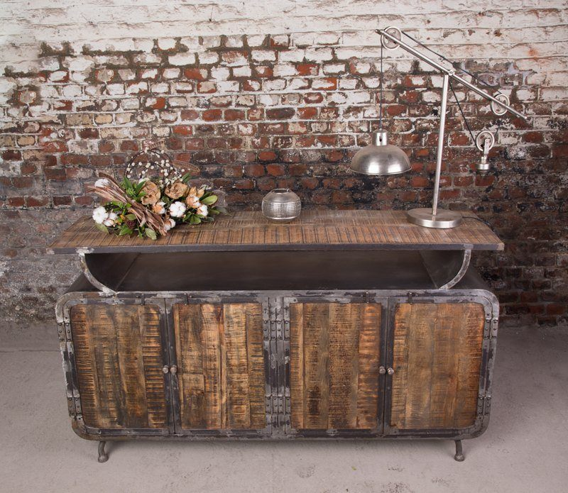 Scandinavian inspiration industrial sideboard