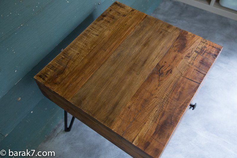 Industrial side table with scandinavian inspiration