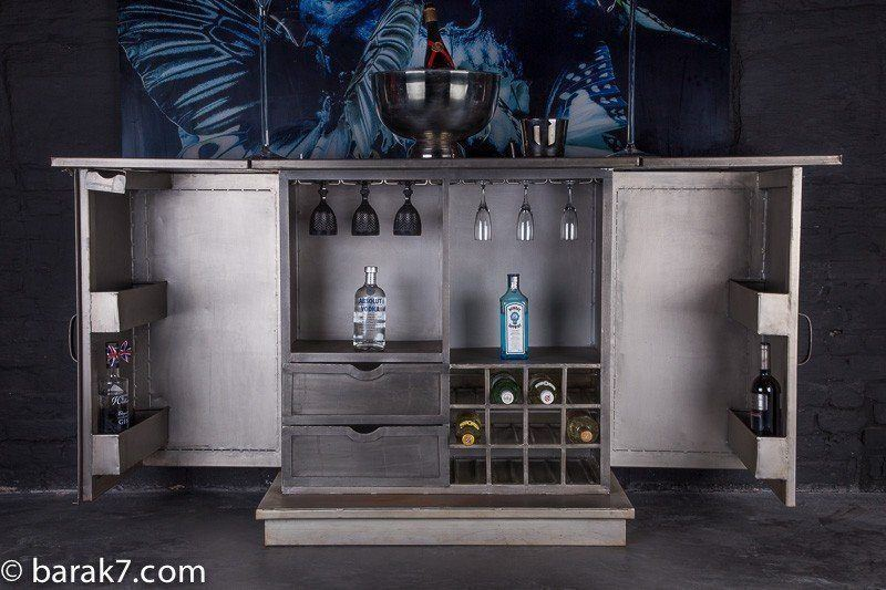 bar industriel ap ro barak 39 7 luxurious. Black Bedroom Furniture Sets. Home Design Ideas