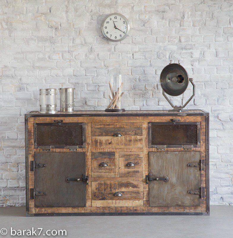 Buffet industriel metal