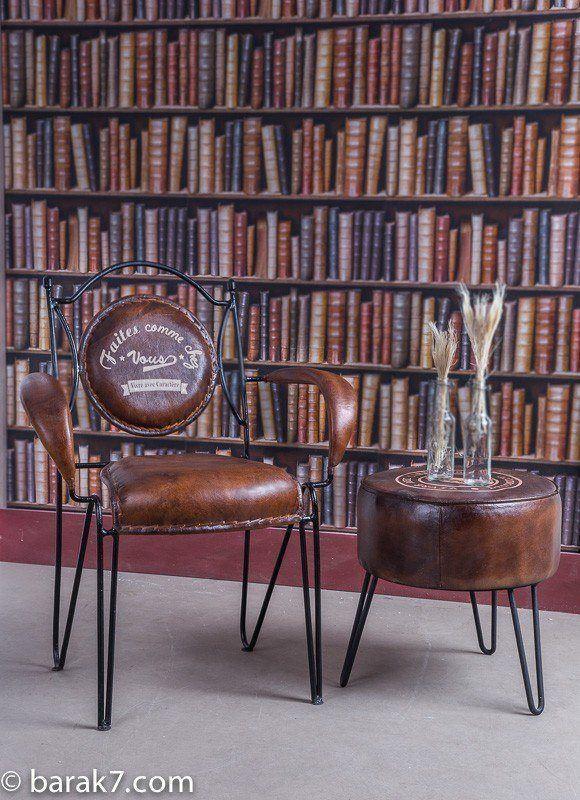 Industrial furniture industrial chair faites comme chez - Chaise metal cuir ...