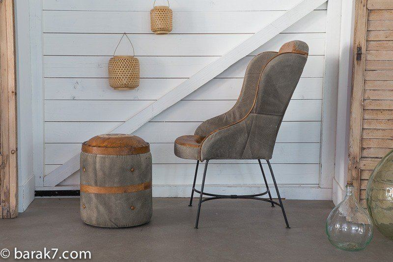 "Industrial armchair ""Live with character"""