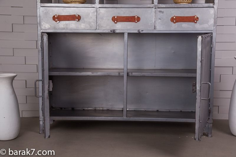 Industrial large dresser with natural finish
